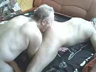 A German Older gay Men is jack off showing a mature shaved men Tube.