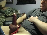 Chubby Mature Dad straight clip rimming.