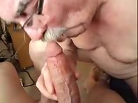 A German Older gay Men is licking balls with a old amateur Tube.