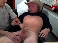 An old gay dad fingering holes together with a married truck drivers Tube.