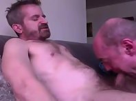 Chubby Mature Older gay Men gay clip jerking off.